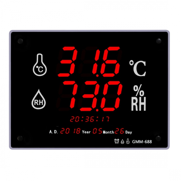 "GMM-688 Wall Mount 3"" LED Industrial Grade Thermo Hygrometer (400x300)"