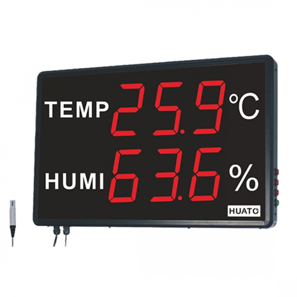 "Huato HE250A Wall Mounted 5"" LED Thermo-hygrometer (601x383)"