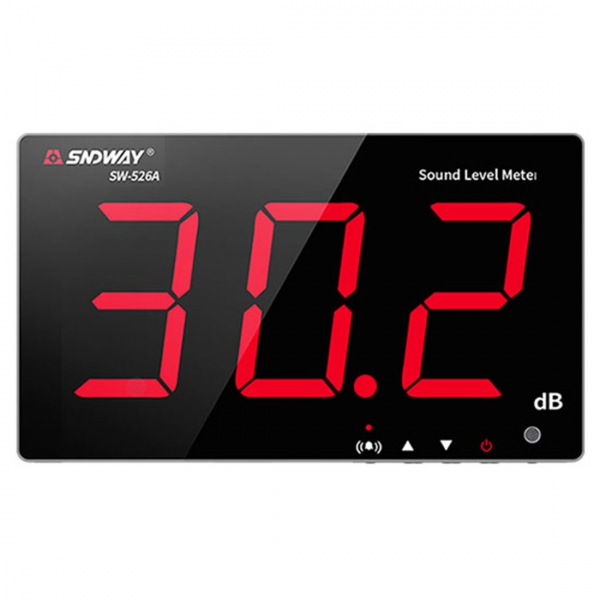 "Sndway SW-526A Wall Mounted 5"" LED 18"" Display Sound Level Monitor with Alarm"