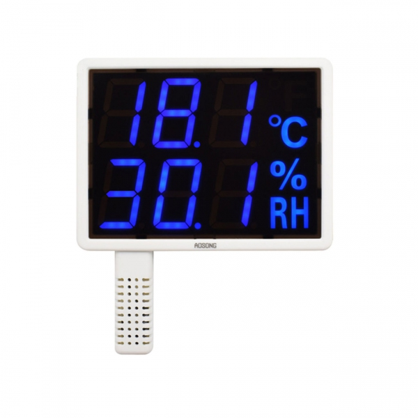 "Aosong AS108-B Indoor Wall Mounted 1.5"" LED Thermo-Hygrometer (142x107)"