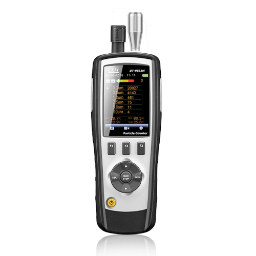 CEM DT-9881M 5-in-1 Air Particle Counter, Mass Concentration, HCHO & CO Gas Detector w/ LCD & Camera