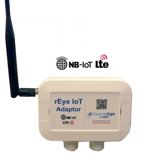 rEye NB-IoT Adaptor Interface Sensors with IoT Cloud Platform