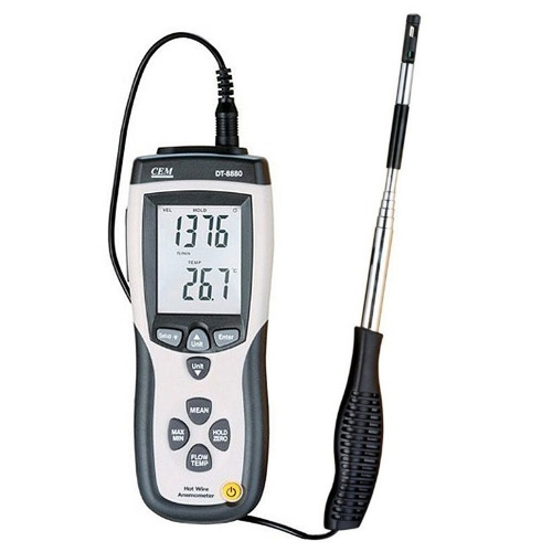 CEM DT-8880 Hot Wire Anemometer with USB interface