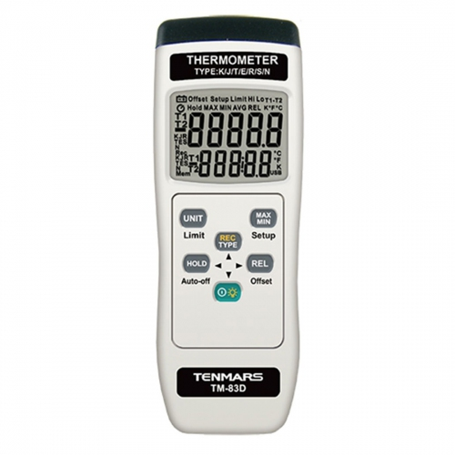 Tenmars TM-83D Single Channel K / J / T / E / R / S / N Type Thermometer Data Logger
