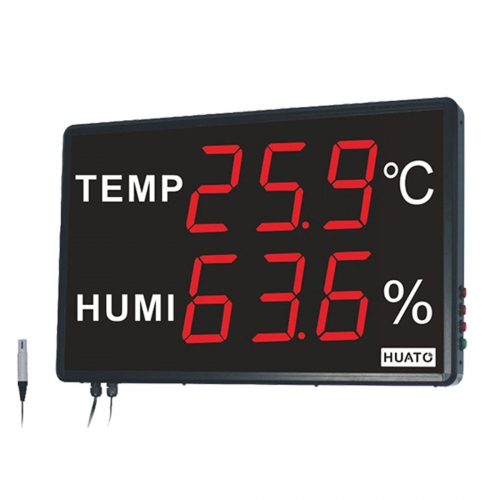 "Huato HE240A Wall Mounted 4"" LED Thermo-hygrometer (601x383)"