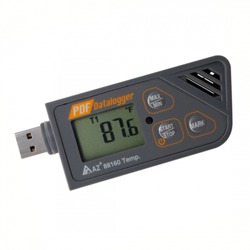 AZ88160 USB Temperature Datalogger PDF Report Waterproof IP67 -30~+70℃
