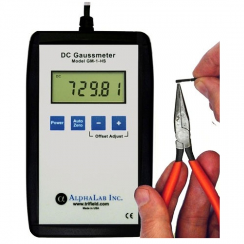Trifield DC Gaussmeter Model GM1-HS with Boot / NIST Certificate (0.01-800G)