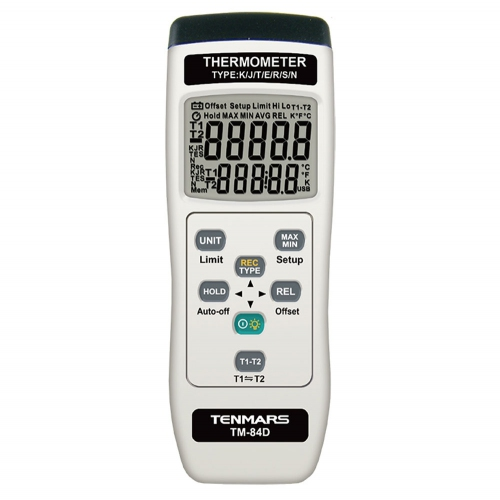 Tenmars TM-84D Dual Channel K / J / T / E / R / S / N Type Thermometer Data Logger