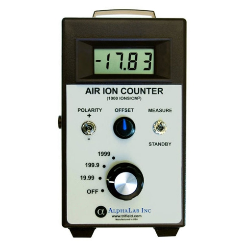 AlphaLab AIC Air Ion Counter Meter Reading +/- Air Ions Densities
