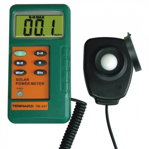 Tenmars TM-207 BTU Solar Power Meter with remote sensor / Pyranometer