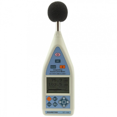 SoundTEK ST-106 Class 1 Integrating Sound Level Meter