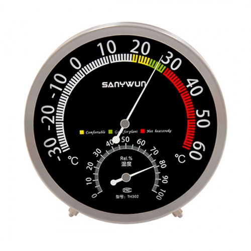 Sanywun TH302 Analog Wall / Desktop Hygro-Thermometer -30ºC~60ºC (Ø130)