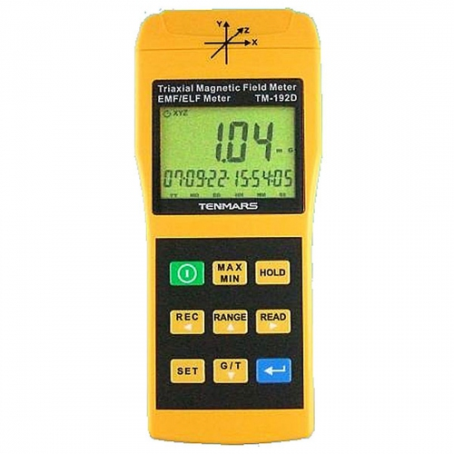 Tenmars TM-192D, 3-Axis Magnetic Field Meter (Gauss Meter) with Data Logging