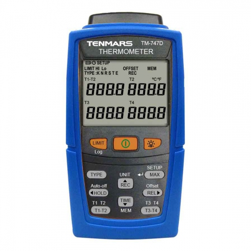 Tenmars TM-747D 4-Channel K / J / T / E / R / S / N Type Thermometer Data Logger