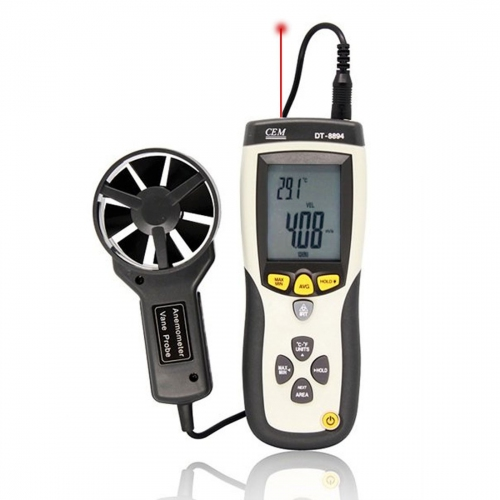 CEM DT-8894 CFM/CMM Thermo-Anemometer with InfraRed Thermometer