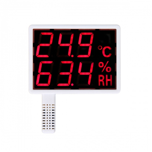 "Aosong AS108-R Indoor Wall Mounted 1.5"" LED Thermo-Hygrometer (142x107)"