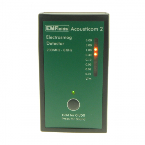 EMFields The Acousticom 2 microwave detector (200MHz to 8GHz)