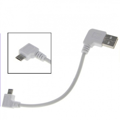 GMM Left Angle Male USB to  Right Angle Male Micro USB Cable