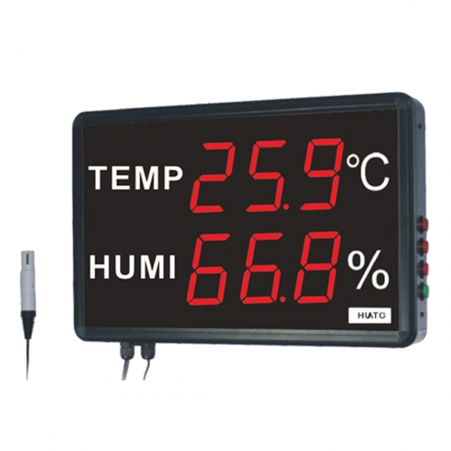 "Huato HE230A Wall Mounted 3"" LED Thermo-Hygrometer (395x255)"