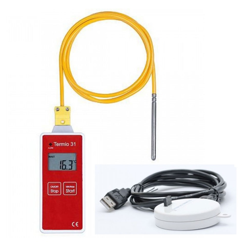 Termoprodukt Termio-31 Temperature ST-05K Probe Data Logger -80~80°C with USB cradle (5m)