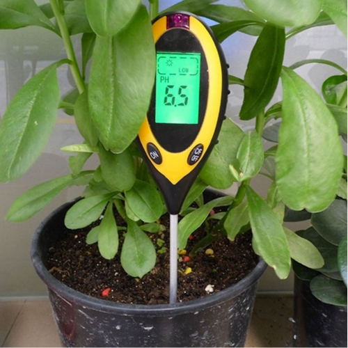 4 in 1 Soil Moisture / PH / Temperature / Sunlight Survey Tester