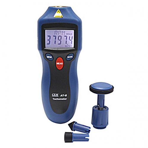 CEM AT-8 High Accuracy Digital Contact / Non-contact Tachometer