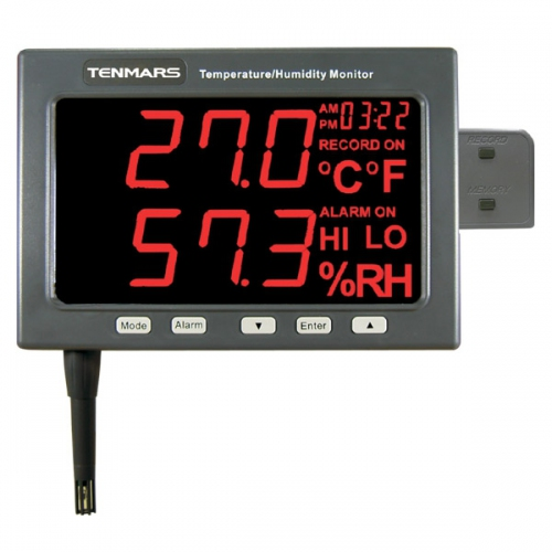 "Tenmars TM-185D 1.8"" LED Temperature / Humidity Monitor Data Logger (214x120)"