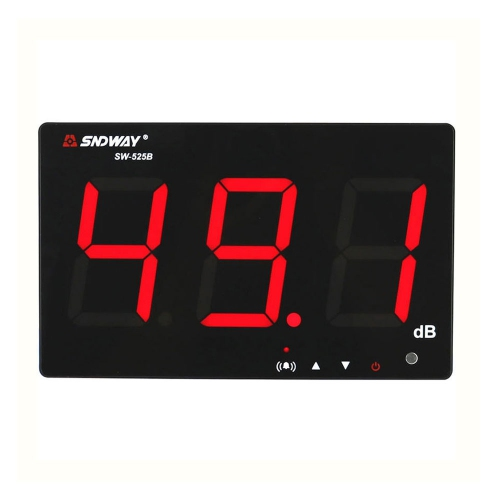 "Sndway SW-525B Wall Mounted 3"" LED 9.6"" Display Sound Level Monitor with Alarm & Data Logger"