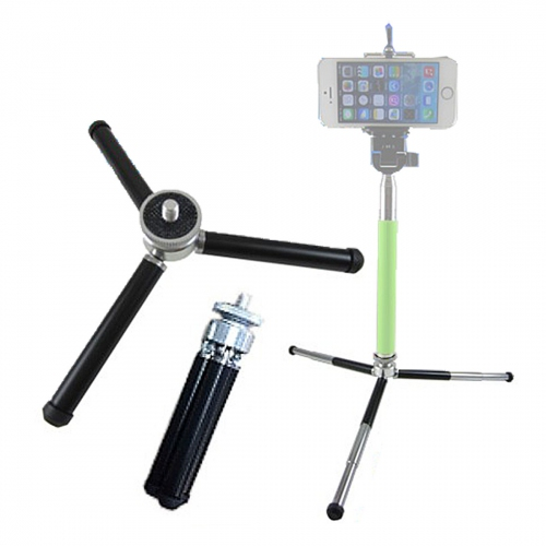 GMM Mini Wide Base Tripod for smartphone selfie monopod stick