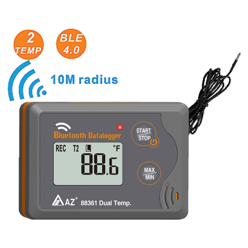 AZ88361 Bluetooth Wireless Dual Temperature Logger / Sensor Probe -30~70℃